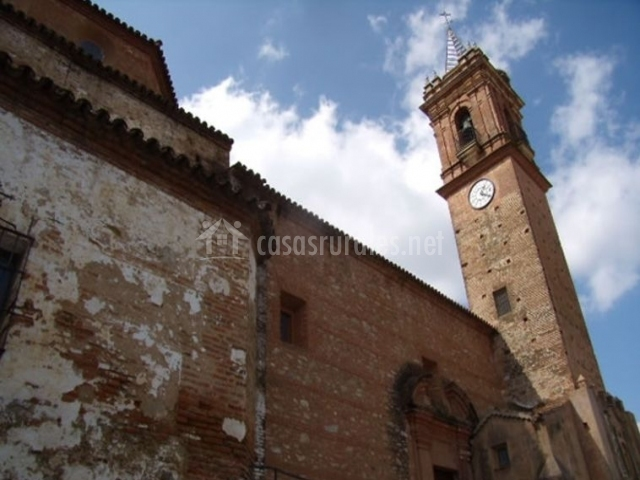 Zona de la iglesia de Fuenteheridos
