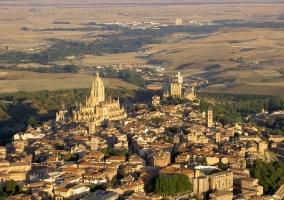 Vista aérea Segovia
