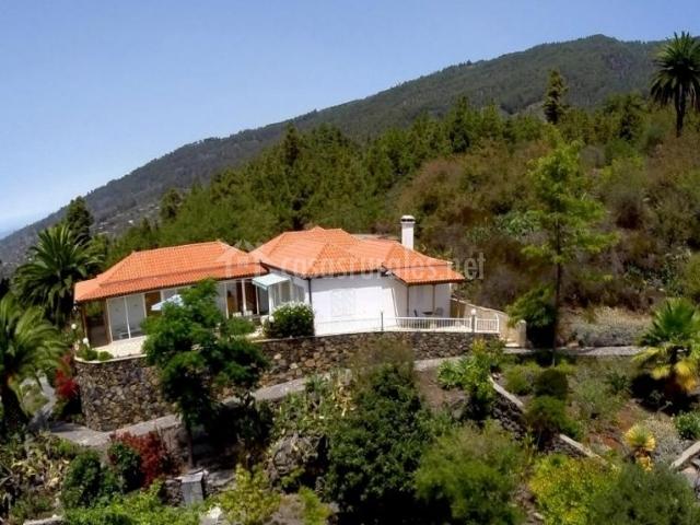 Vistas de la casa y sus zonas verdes