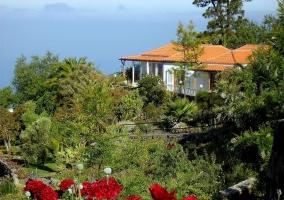 jardín y villa