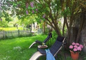 Acceso a los jardines