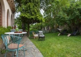 Hamacas en el jardín