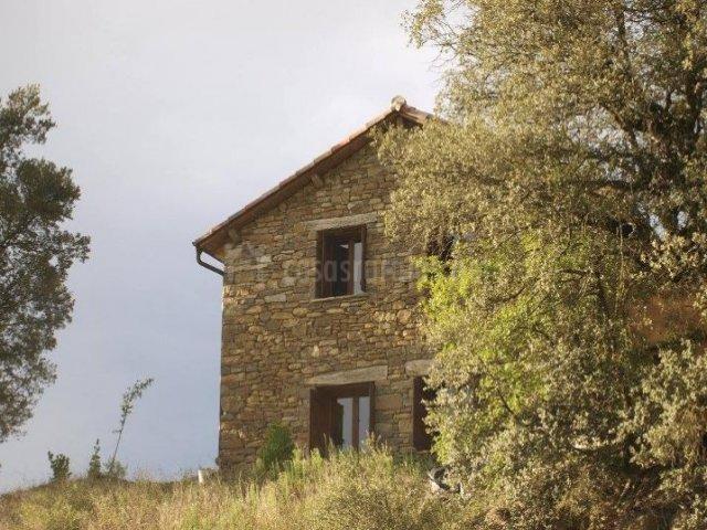 Vistas de la casa entre la naturaleza