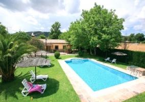 Casa Rural con Piscina y Tumbonas