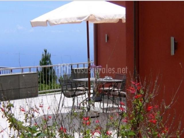 Vistas de la terraza con las mejores vistas de la isla