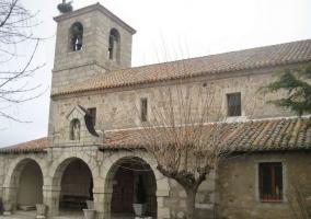 Zona de la iglesia de Lozoyuela