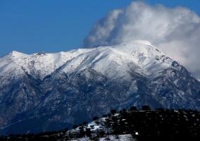 Nieve en la Sierra de Tejeda
