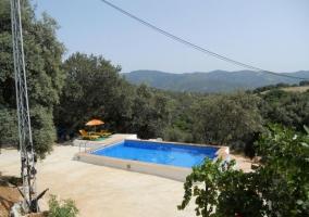 Vistas de la piscina desde la casa