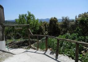 Vistas del huerto de la casa