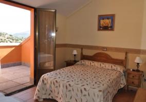 Terraza privada en el dormitorio
