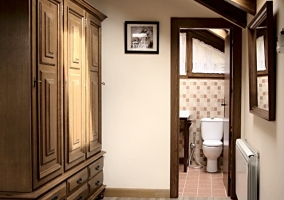 Baño de la habitación del ático