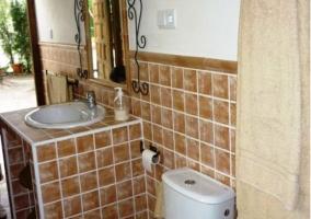 Zona de aseo del cuarto de baño