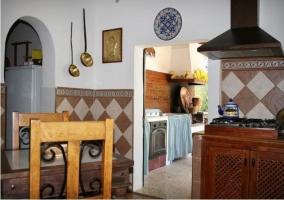 Zona de cocina interior y exterior