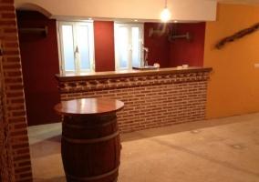 Bar de la casa rural Los Mirlos