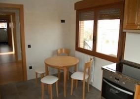 Mesa en la cocina redonda