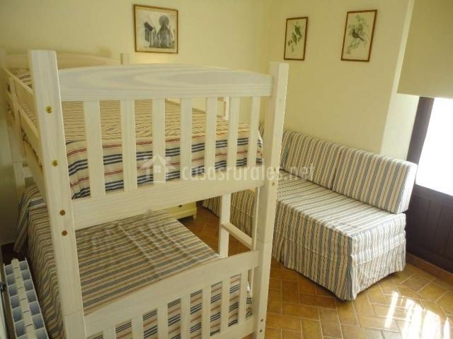Litera y sofá-cama