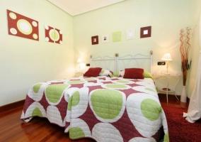 Dormitorio Suite doble con dos camas