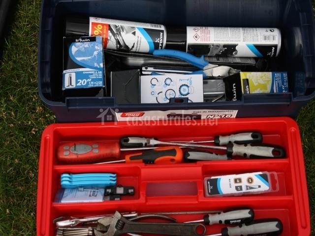 Herramientas de reparación de bicicletas