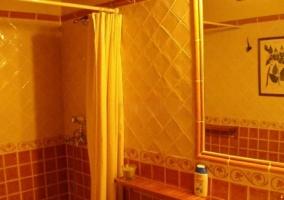 Aseo de la casa con ducha y cortina