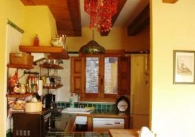 Cocina vista desde la sala de estar