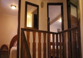 Escalera hacia los dormitorios
