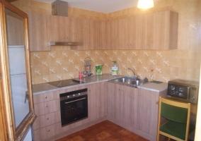 La cocina con ventana