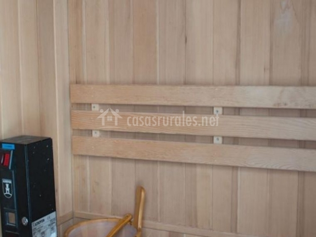 Vistas de la sauna