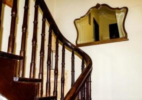 Escaleras de acceso a las diferentes `lantas