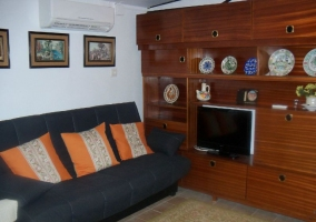 Sala de estar con aire acondicionado