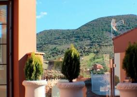 Vistas a la sierra de Siruela desde la casa
