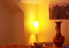 Libros en el salón