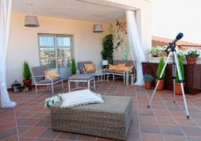 Dormitorio 5 con terraza amueblada