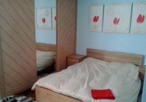 Dormitorio de matrimonio con nórdico