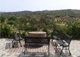 Mesas de exterior con vistas