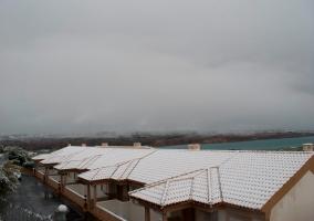 Tejados nevados