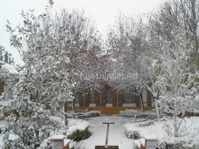 Patio nevado