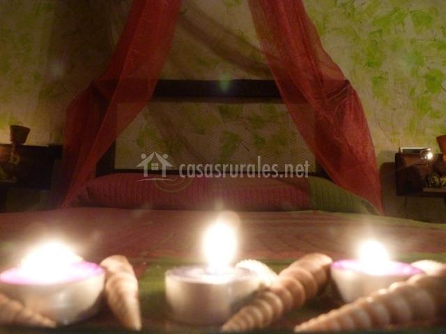Dormitorio con decoración Zen