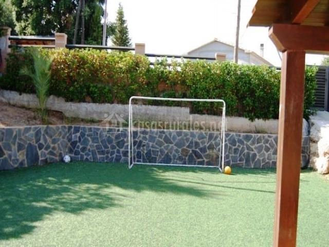 Campo de fútbol en la casa