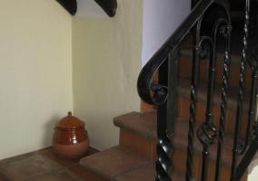 Escaleras de acceso a la planta superior de la casa