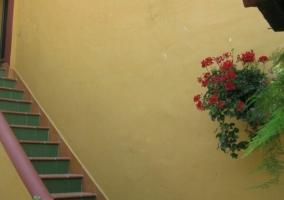 Vistas de las escaleras en el exterior