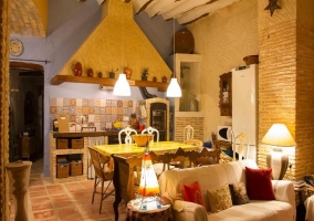 Salón y cocina común