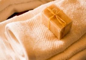 Toallas con jabón