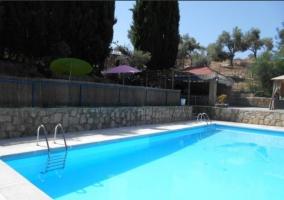 Amplias zonas exteriores con piscina y cenador