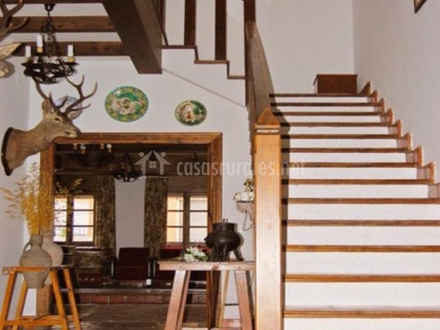Entrada con hall y escaleras