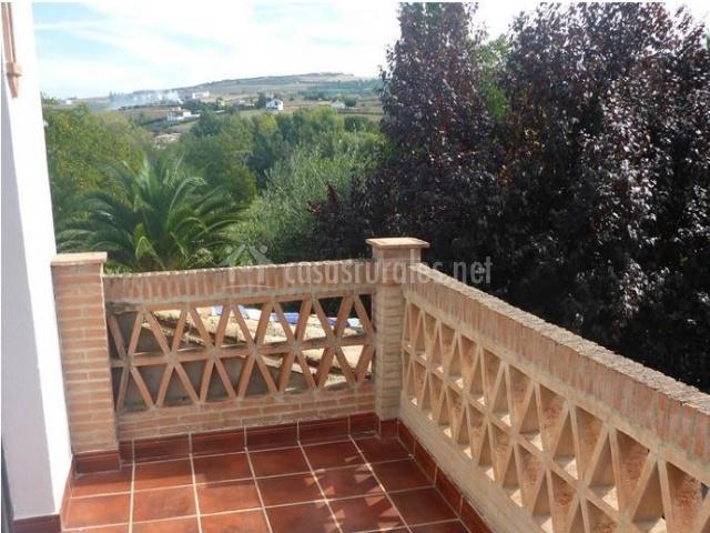 Balcón con vistas al exterior
