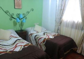 Dormitorio doble verde