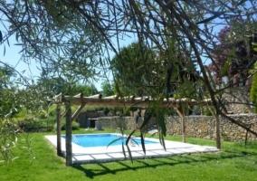 Vistas de la piscina en el exterior