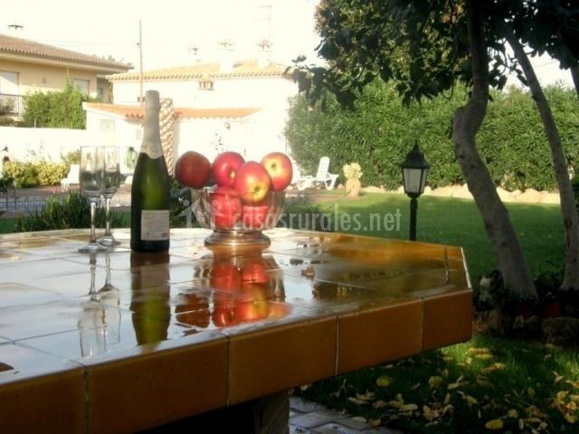 Fruta y bebida