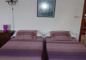 Dos camas de dormitorio doble