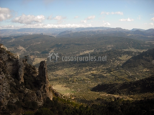 Vista panorámica de la sierra de Grazalema